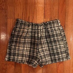 Zara Gingham black and white Shorts sz M